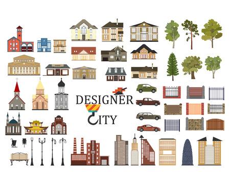 set of city infographics Illustration