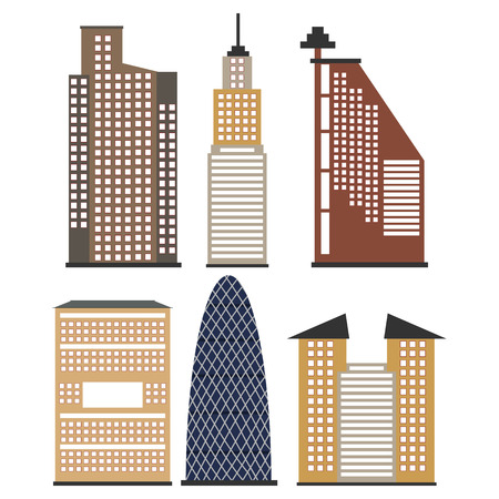 set of skyscrapers for infographics