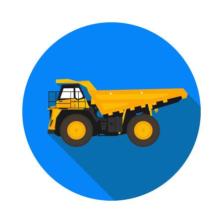camion minero: flat icon mining truck
