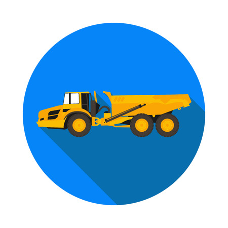 flat icon dump truck
