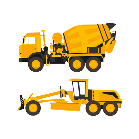 compact track loader: Mixer and grader