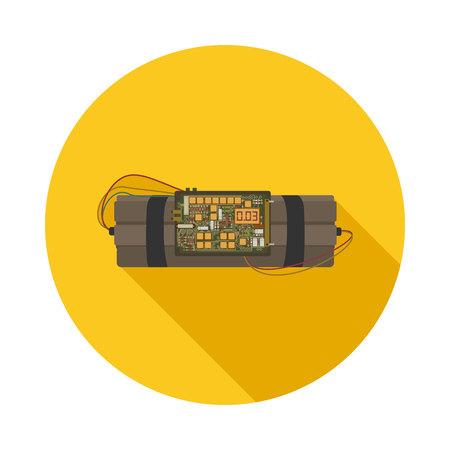 flat icon time bomb