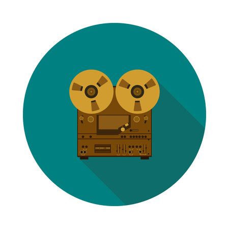 flat icon of a tape recorder