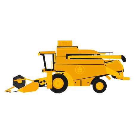 flat illustration harvester