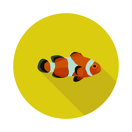 Cool flat Clown fish icon