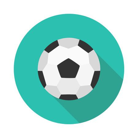 Flat icon soccer ball in vector format illustration. Illustration