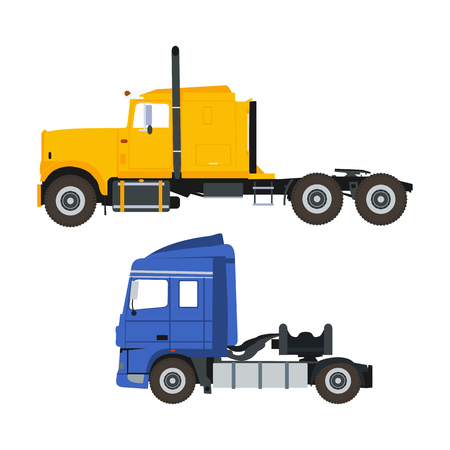 Flat illustration of trucks in vector format illustration.