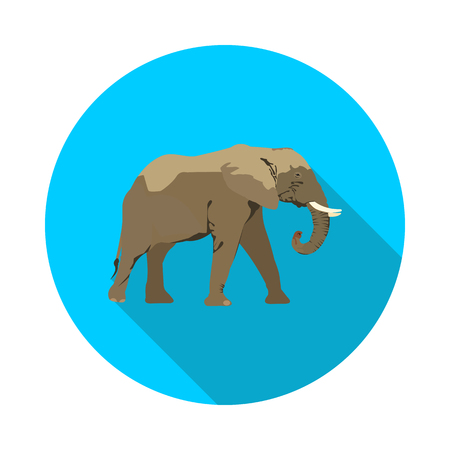 Flat African elephant icon in vector format Иллюстрация