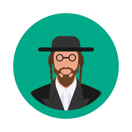 Flat icon is an Orthodox Jew in vector format