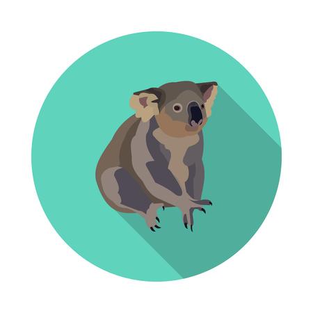 cool flat Koala icon Illustration