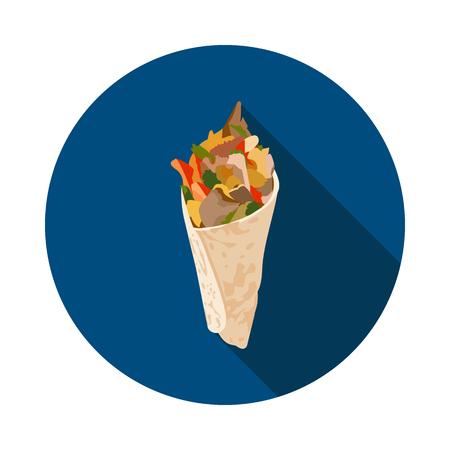 Cool flat Shawarma icon