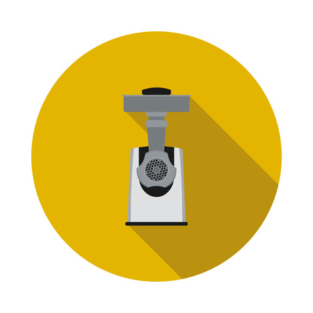 Flat electric meat grinder icon