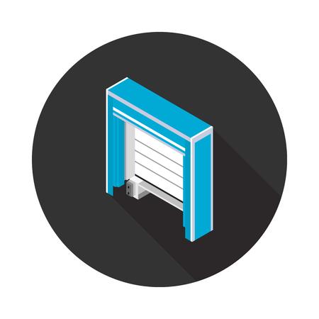flat icon dockshelter isometric
