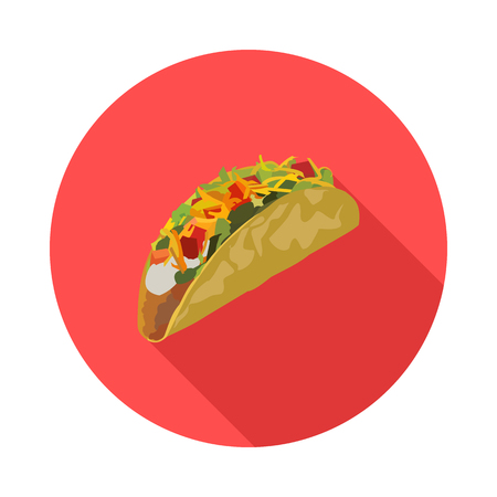 flat icon of Mexican tacos Иллюстрация