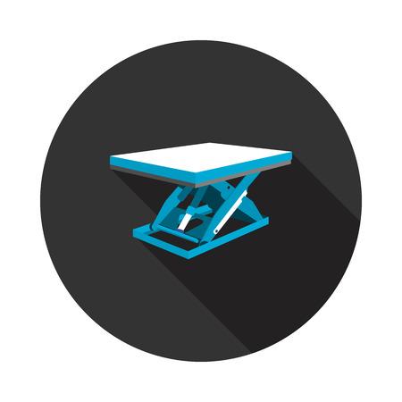 flat lifting table icon Illustration