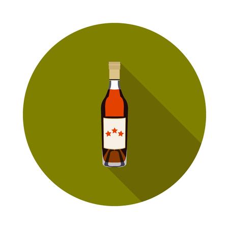 flat cognac bottle icon