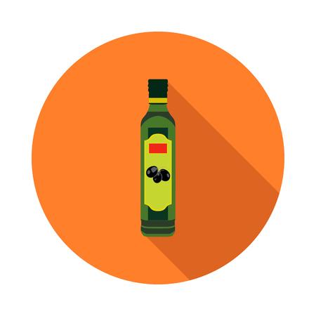 flat olive oil bottle icon
