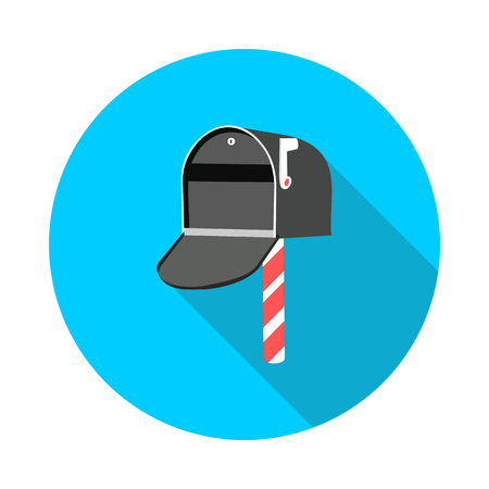 cool flat icon mailbox in vector format