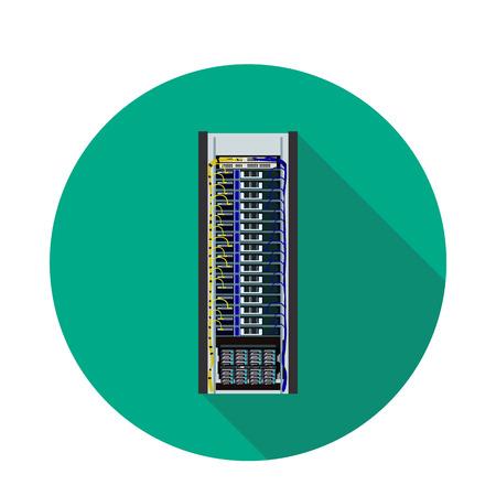 flat data server icon Stock Photo