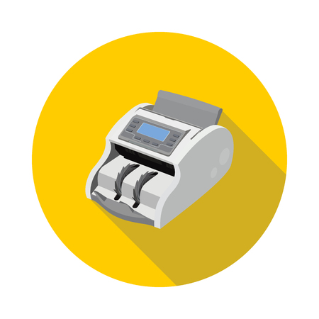 flat icon machine for counting money in vector format Illustration