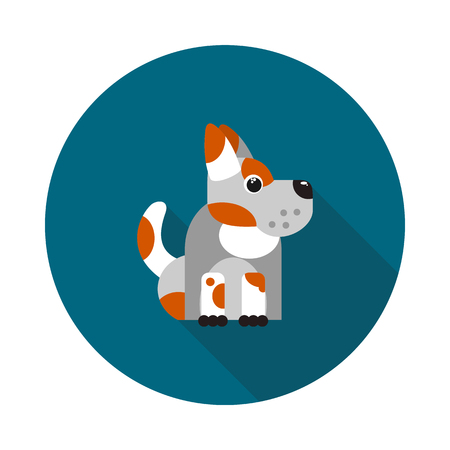 flat spotted dog icon in vector format