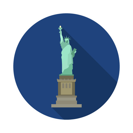 flat statue of liberty icon in vector format Illustration