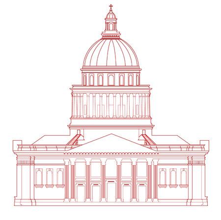 Vector Pantheon (Paris) Ilustracja