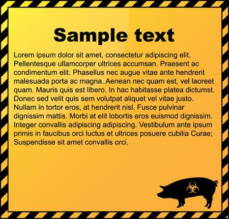 Swine flu danger background Illustration