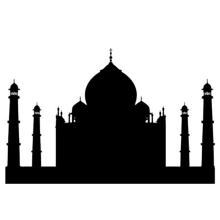 Taj Mahal vector silhouette