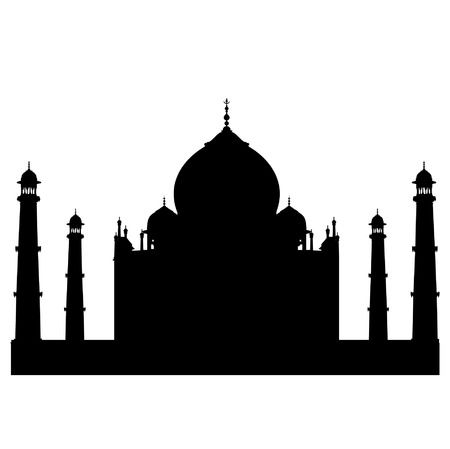 focus on shadow: Taj Mahal vector silhouette