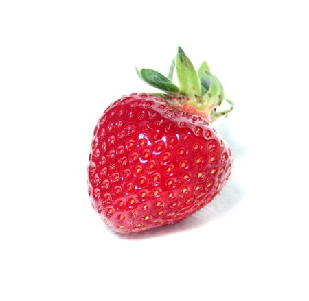 Fresh Isolated Strawberry (Heart Shaped) photo