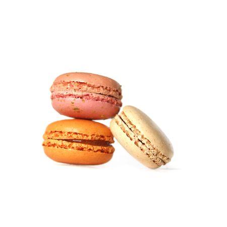 Macarons isolates on white photo