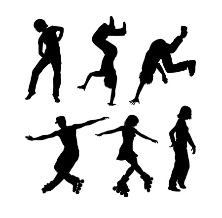 collection of vector dance silhouettes Vector