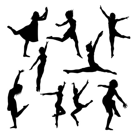 collection of vector dance silhouettes 2