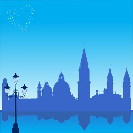 Arrière-plan romantique avec Venise silhouette arrière-plan romantique avec la silhouette de Venise Banque d'images - 6191377