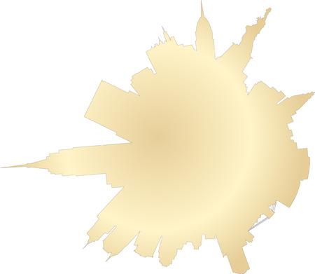 New York planet: vector New York silhouette skyline Stock Vector - 6191374