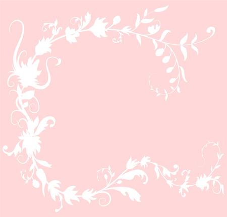 Floral Romantic Vector Background Vetores