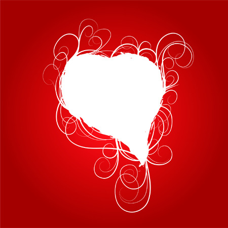 Red romantic background with heart Stock Vector - 6217689