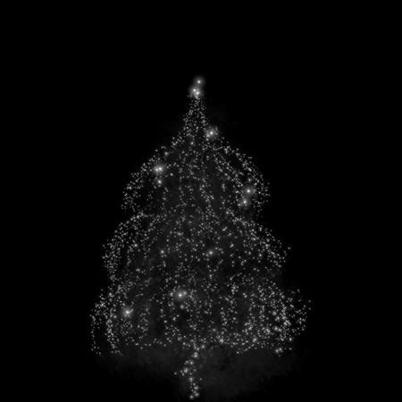 Christmas black background : Christmas tree  photo