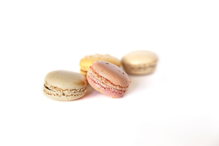 Macarons isolates on white