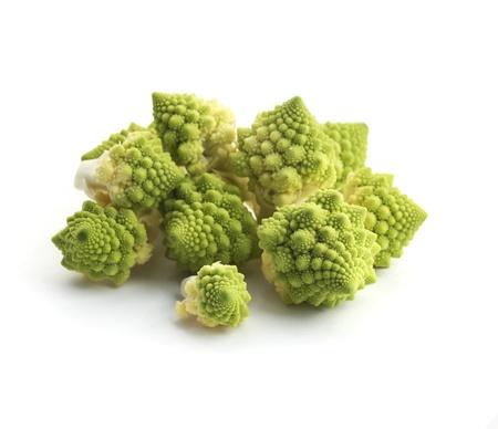Romanesco broccoli isolated on white