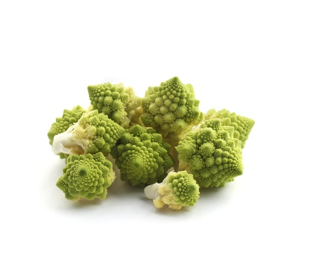 romanesco: Romanesco broccoli isolated on white