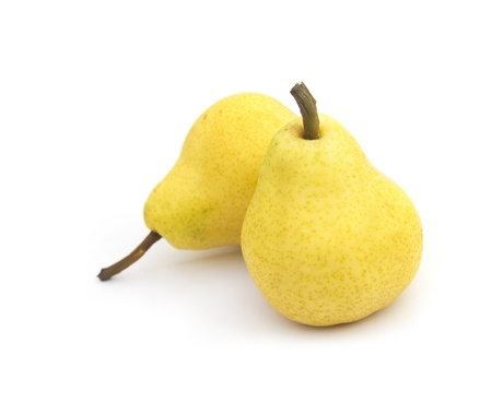 Two Pears isolated on white background photo