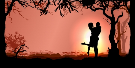 Romantic vector background Stock Vector - 16676019