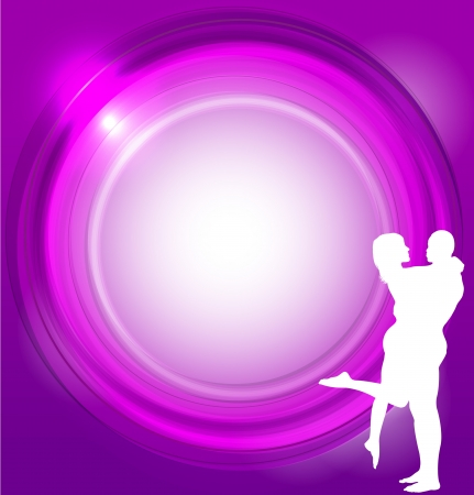Valentines background with couple. Vector
