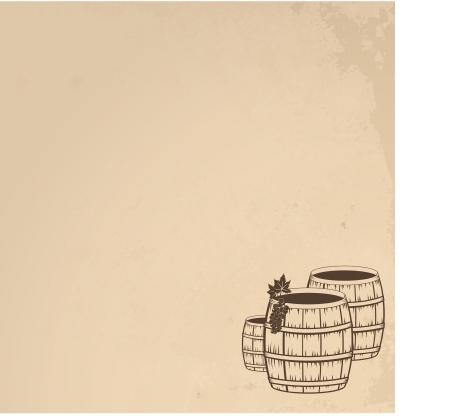whisky: Grunge  wooden barrels of wine