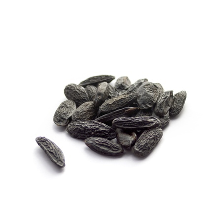 Tonka beans isolated on white