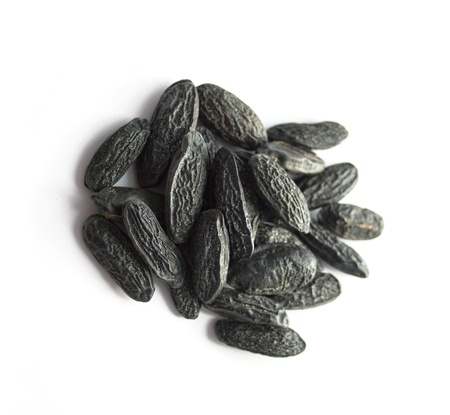 Tonka beans isolated on white