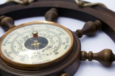 pluviometro: Barómetro de primer plano muy seco en francés Foto de archivo