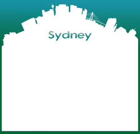 sidney: vector background with Skyline of Sydney